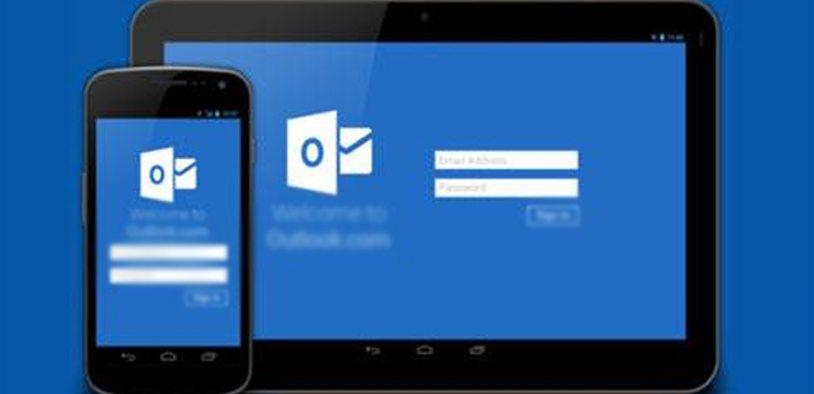 Outlook disponível para Android e IOS