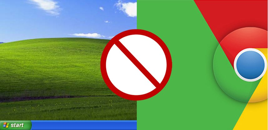 Fim do suporte do Google Chrome ao Windows XP